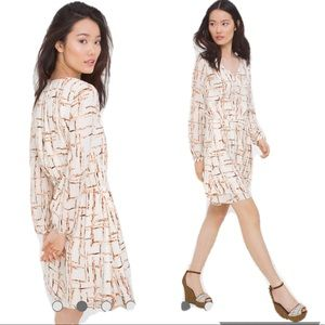 WHBM Blouson Printed Dress